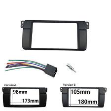 Radio Stereo Panel for BMW 3 Series E46 2 Din Dash Trim Kit Fascia w. wiring