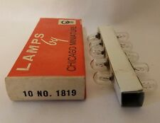 Box of 10 Chicago Miniature 1819 Cm1819 Ge1819 Lamps Light Bulbs 28V 0.04A
