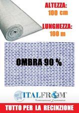 Rete Ombreggiante 90% Telo Ombra 100x1h Frangivento Frangivista Bianco Italfrom
