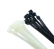 Kabelbinder 1-500x ,100mm 140mm 200mm 300mm natur weiss schwarz UV resistent