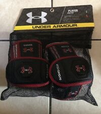 Under Armour Player Lacrosse & Red Player Arm Pads ~ Large