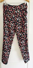 MISS SHOP WOMENS FLORAL Stunning PRINT COMFORT PANTS WORK PARTY SZ 8