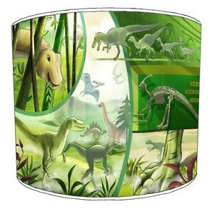 Children`s Dinosaurs Lampshades, Ideal To Match Curtains
