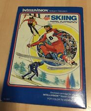 U.S. Ski Team Skiing with box, manual and 2 overlays  (Intellivision, 1980)