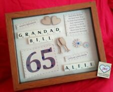 PERSONALISED 65th BIRTHDAY GIFT FRAME PICTURE PHOTO KEEPSAKE PRESENT