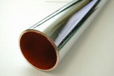 35mm Chrome Plated Copper Pipe / Tube | 1 Foot Length