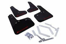 Rally Armor UR Black Mud Flap w/ Red Logo For 12+ Ford Focus ST/SE/Ti/RS