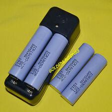 4X Samsung ICR18650 22P 10A 3.6V3.7V High drain Li-ion battery +1X smart charger