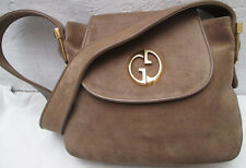 -AUTHENTIQUE  sac à main   GUCCI  daim/cuir  TBEG vintage bag