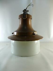 gr. kupferfarbige Pendelleuchte mit Überfangglas Industrielampe Art Deco? (7 kg)