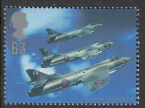 Hawker Hunter  illustrated on 1997 unmounted mint GB stamp