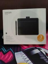 "Wacom Intuos Graphics Drawing Tablet, 3 Bonus Software, Small 7.9""x 6.3"", Bla..."