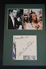 PIERRE BRICE & EDDIE CONSTANTINE  signed  Autogramm A4  In Person Passepartout