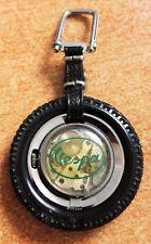Vespa rare Almasuis big pocket watch black rubber mm 51 steel manual winding