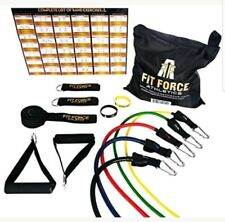 Fit Force Athletics Exercise Resistance Bands Set NEW WITHOUT BOX