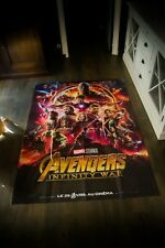 AVENGERS INFINITY WAR 4x6 ft French Grande Fold Movie Poster Original 2018