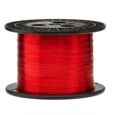 """23 AWG Gauge Enameled Copper Magnet Wire 5.0 lbs 3169' Length 0.0236"""" 155C Red"""