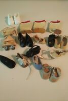 Vintage Front Snap Oil Cloth Shoes LOT & Misc Small Doll Ginny Vogue Size Boots