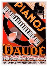 176118 VINTAGE PIANO Pianos Daude Paris Grand Music Decor LAMINATED POSTER FR