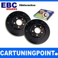EBC Discos de freno eje trasero negro Dash Para VW PASSAT 4 3bg usr601