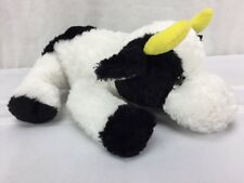 "Russ Berrie Cow Farm black white plush stuffed animal Mathilda 9"" bean"