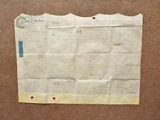 1732 Over Whitacre Warwickshire Vellum Deed Indenture Marriage Settlement