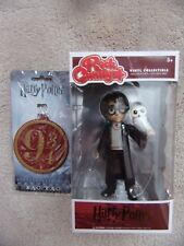 "Funko Harry Potter Rock Candy Vinyl 5"" Figure + Harry Potter BAG TAG 9 3/4 New"