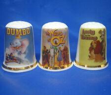 Birchcroft Thimbles -- Set of Three -- Famous Cartoon Posters
