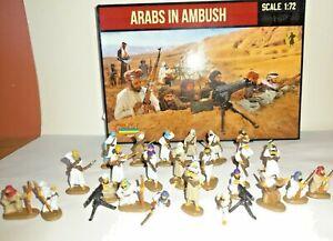 PAINTED SOLDIERS 1/72 20mm - ARABS IN AMBUSH - COLONIAL WARS x 24 STRELETS