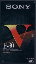 VHS VIDEOCASSETTA SONY  E- 30 SP:30 min SIGILLATA!!!