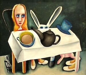 """CHARLES BLACKMAN """"FEET BENEATH THE TABLE"""" ARCHIVAL LIMIED EDITION PRINT"""