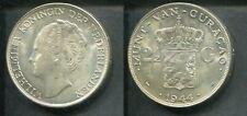 NIEDERLANDE CURACAO 1944 - 2 1/2 Gulden in Silber, vz - WILLEMINA