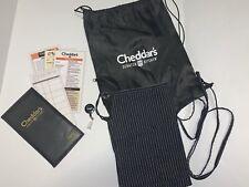 Cheddars Apron Backpack Card Holder Server Book Darden Restaurant