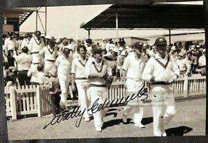 Australia Cricket Legend Wally Edwards Signed Photo