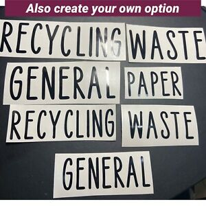 Recycle Bin Vinyl Decal Stickers  Waste - Recycling - DIY