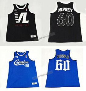 Nipsey Hussle #60 Crenshaw Victory Lap Music Hip Hop Rap Basketball Jersey Sewn