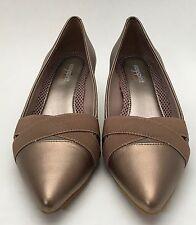 Easy Spirit Lonella Dress Shoes Heels Anti-Gravity Metallic Copper Size 7 1/2 W