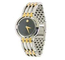 Movado Esperanza Two Tone 81 A2 1800 Black Dial Stainless Steel womens Watch
