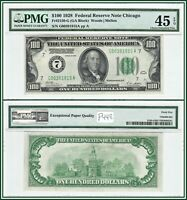 1928 Numerical Seal $100 Federal Reserve Note PMG 45 EPQ Choice Extremely Fine