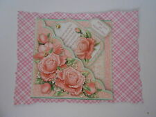 PK 2 PINK SCALLOPED ROSE EMBELLISHMENT TOPPERS FOR CARDS/CRAFTS LOVE MOTHERS DAY