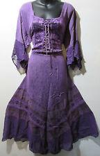 Valentines Dress Fits 1X 2X Plus Renaissance Purple Corset Lace Up Chest NWT 522