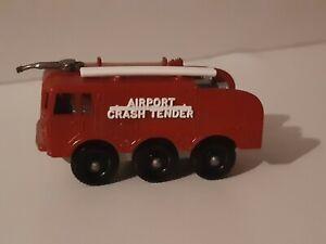 1960s Matchbox Lesney #63 Foamite Airport Crash Tender Red Fire Engine Truck