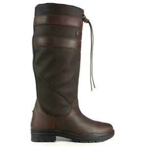 Brogini Longridge ADULTS Long Country Boots Waterproof In Brown