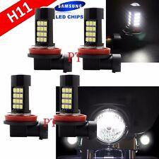Combo 2 Pair H11 Samsung Chip LED 42 SMD White Xenon 6000K Light Bulb Motorcycle