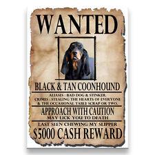 BLACK & TAN COONHOUND Wanted Poster FRIDGE MAGNET