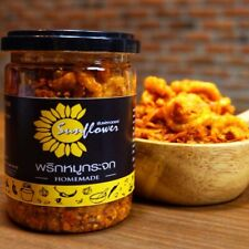 Crispy Pork Chili snack and Paste hot spicy food Thai flavors