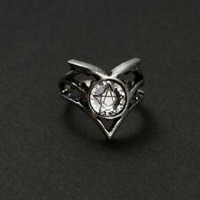 Ring Bague Alchemy Gothic Margravenus Pentagram Witch Vintage RARE 2004 Gothique