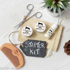 Mo Bro's Cedarwood Grooming Kit- Moustache Wax, Beard Balm, Oil, Comb, Gift Bag