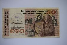 More details for central bank of ireland fifty £50 pounds banknote gld965897 05.11.91 roughish