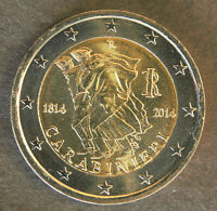 ITALY 2014 2 EURO UNC COIN - 150th ANNIV. CARABINIERI - KM# 367 -- [562]